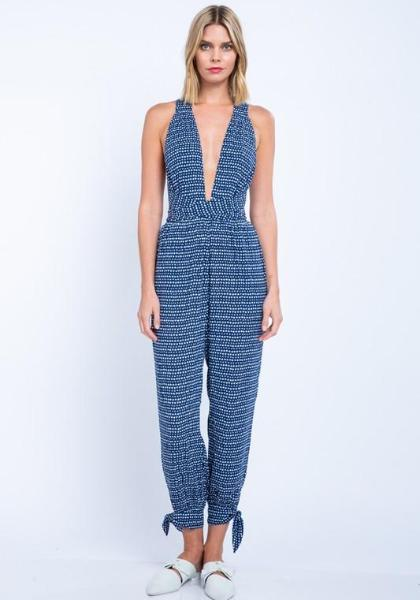Boho Cross Wrapping Jumpsuit
