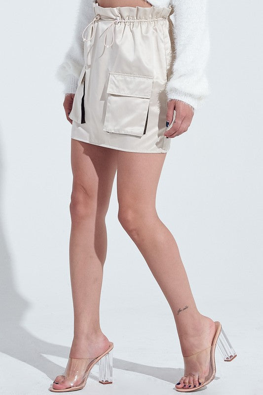 Windbreaker Mini Skirt