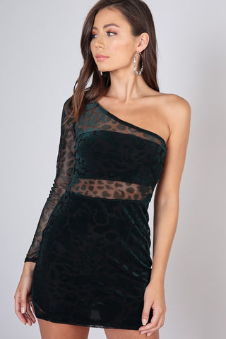 Velvet & Sequin Mini Dress