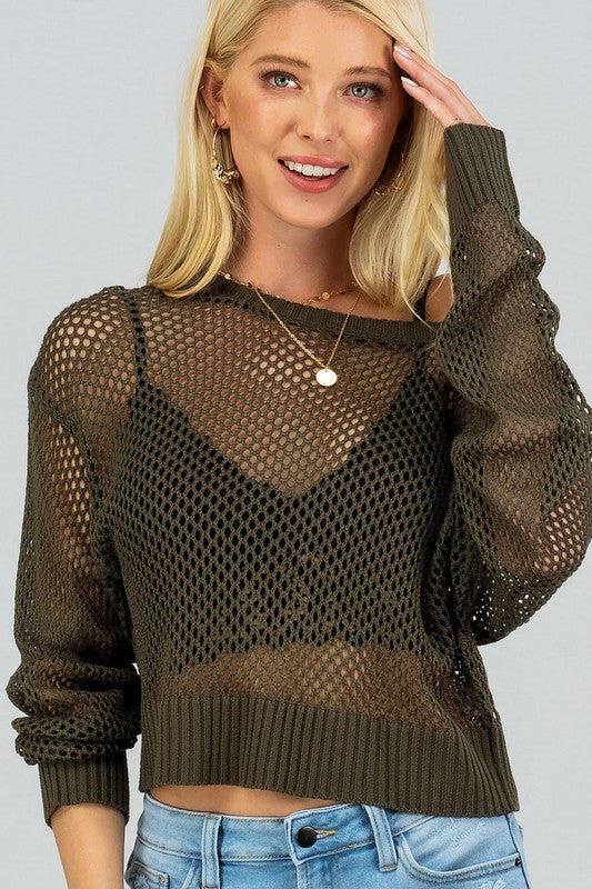 Knit Boat Neck Sweater