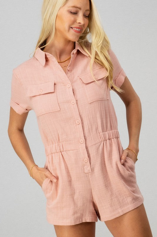 Two Pocket Chest Romper
