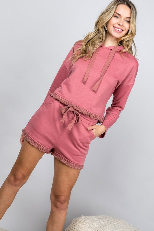 French Terry Hoodie & Shorts Set