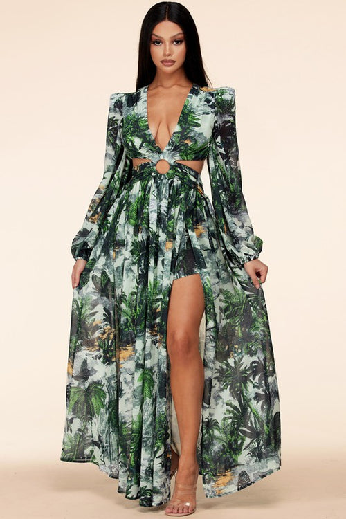 Green Wilderness Maxi Dress