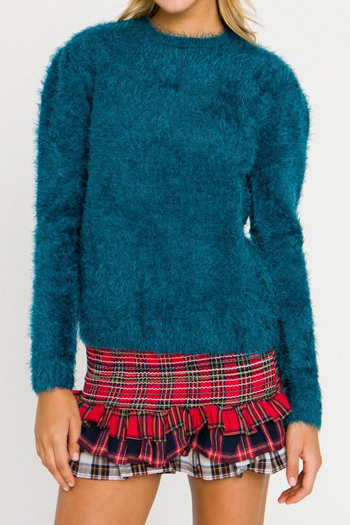 Feathered Knit Sweater