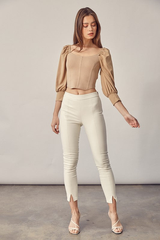 Scoop Neck 3/4 Sleeve Top