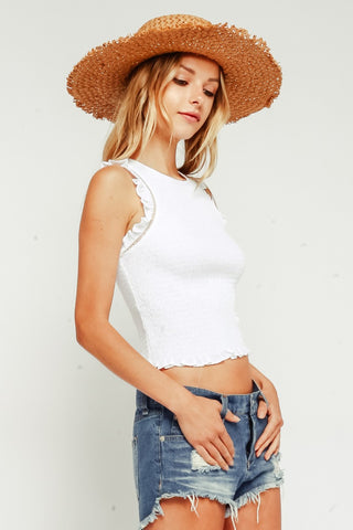 OB Story Cold Shoulder Collar Top