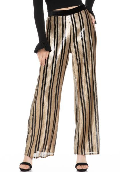 Endless Rose Sequin Striped Pants