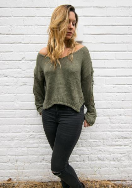 YFB On The Road Distressed Sweater