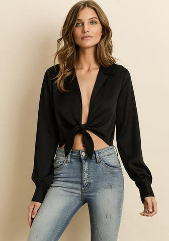 Timing Velvet Crop Top