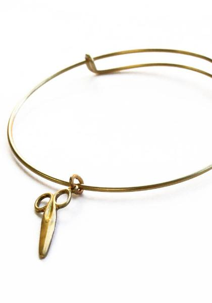 Larissa Loden Scissors Brass Bangle Bracelet