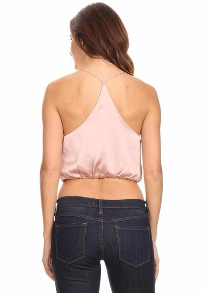 In Style Satin Cropped Cami