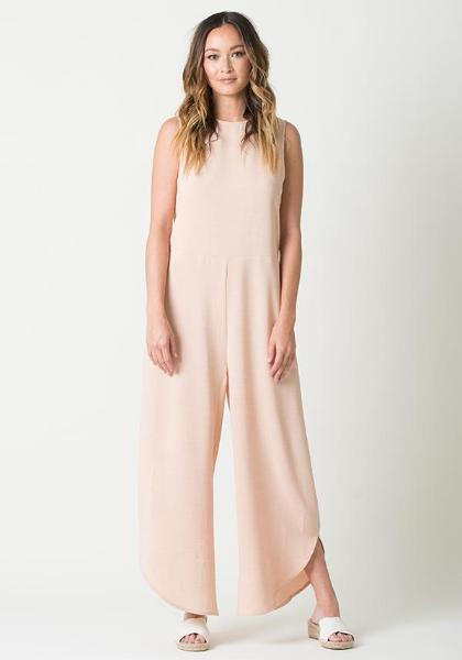 Lucca Sleeveless Side Rise Wide Leg Jumpsuit
