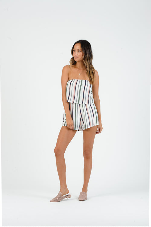 Lucca Couture Striped Romper