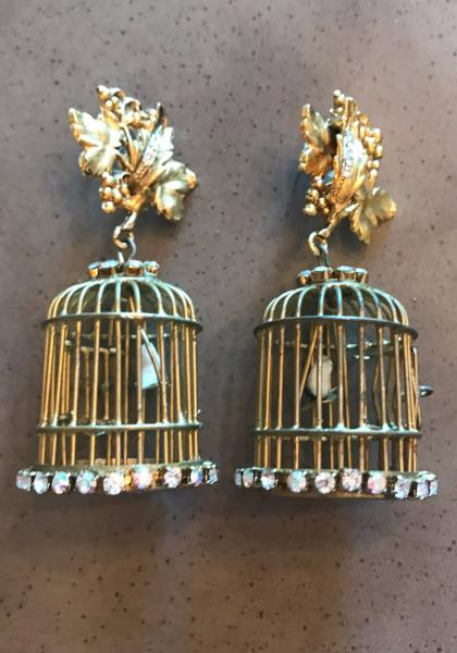 Miss Ellie Deluxe Birdcage Earrings