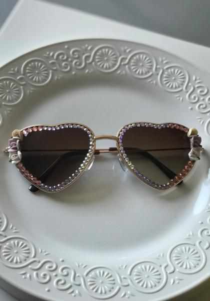 Shadey Rose Rounded Hearts, Crystals & Flowers Sunnies