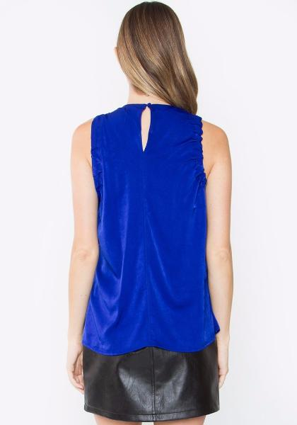 Sugar Lips Cobalt Sleeveless Top