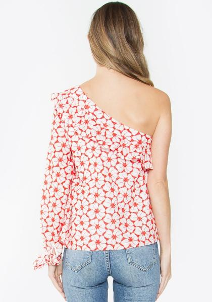 Sugar Lips Floral One Shoulder Top