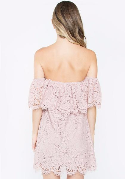 Sugar Lips Off-Shoulder Lace Dress