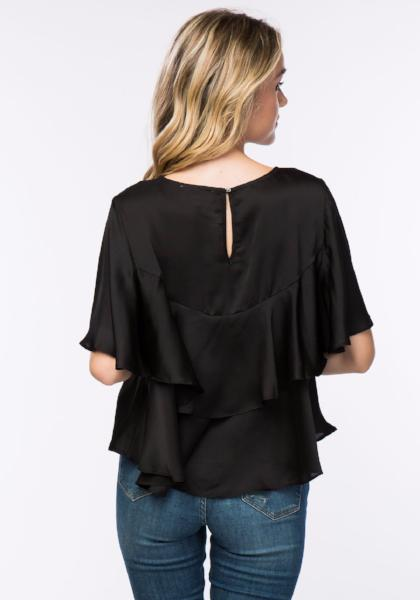 Timing Flutter Sleeve Top