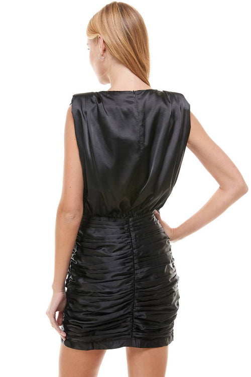 Satin Ruched LBD