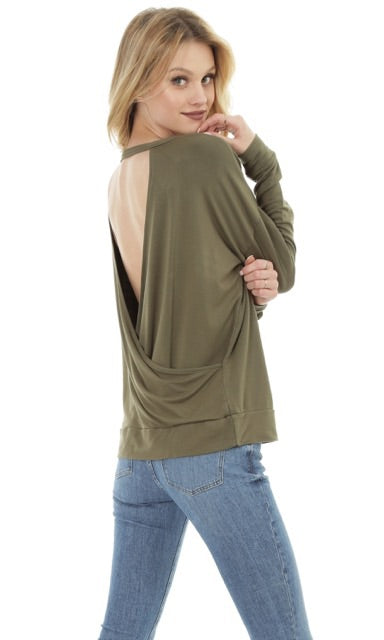 Cross Backless Sweatshirt