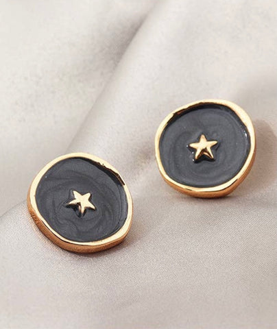 Metal Star Hoops