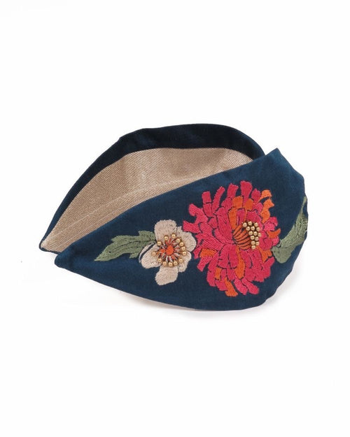Embroidered Retro Meadow Headband