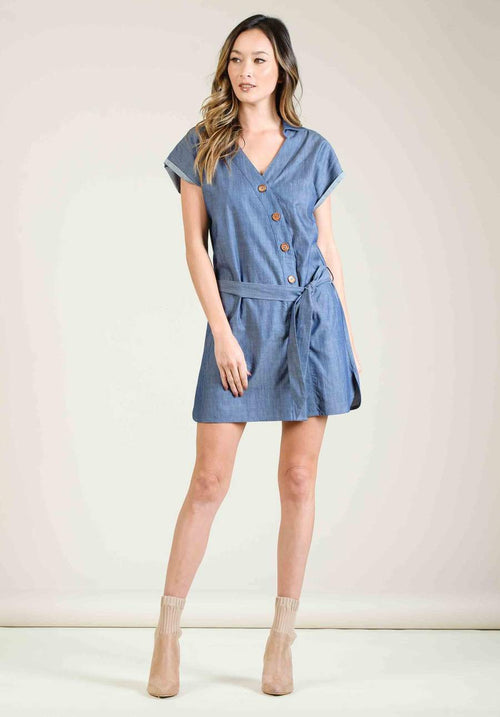 Lucca Button Down Mini Dress
