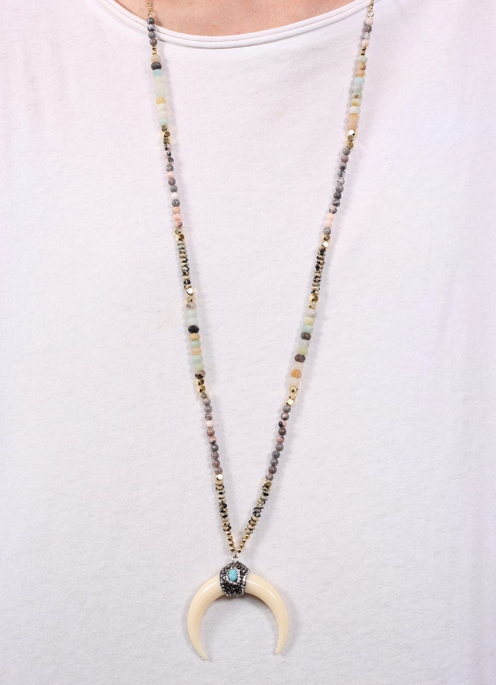 Boho Natural Beaded Necklace