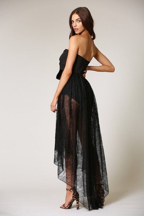 High-Low Lace Dress