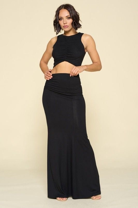 Crop Top & Maxi Skirt Set