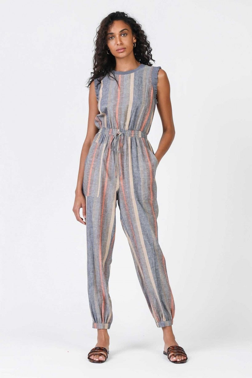 Ruffled Sleeveless Jumpsuit