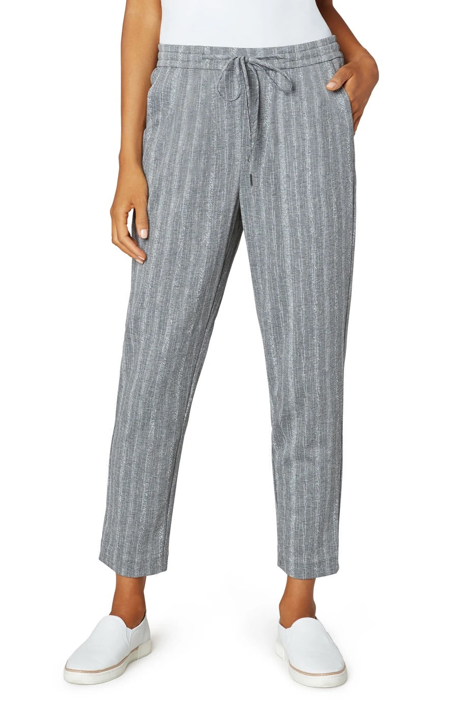 Pull On Tie Front Trousers