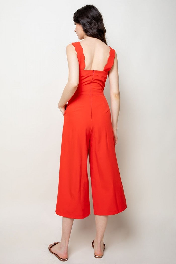 Jumpsuit with Scallop Detail
