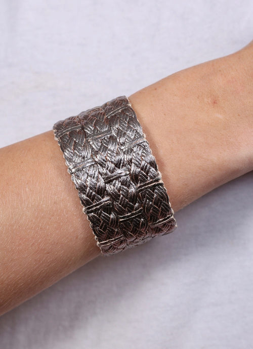 Braided Magnetic Cuff Bracelet