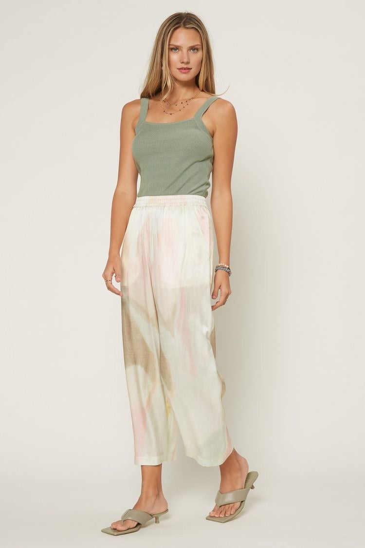 Tie Dye Silk-Blend Resort Pants