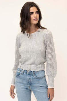 Pullover Belted Sweater