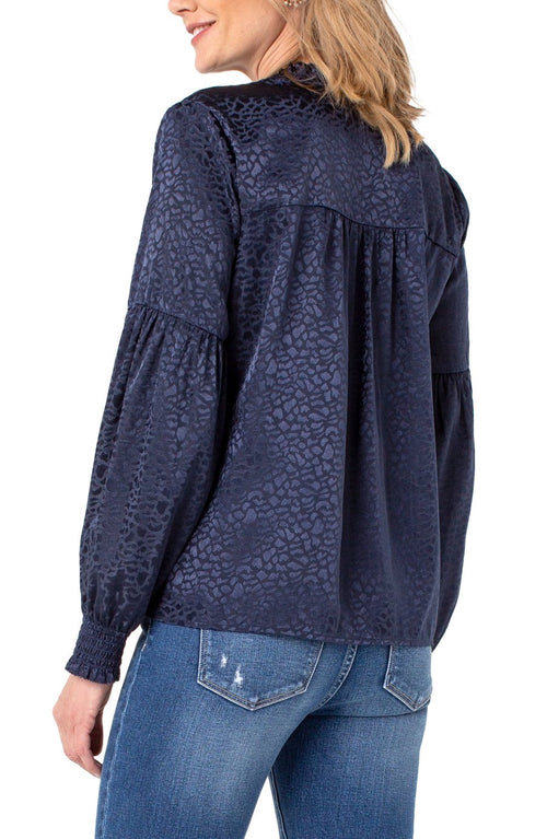 Tie Front Ruffle Popover