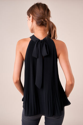 Krisa Pleated Turtle Neck Tank