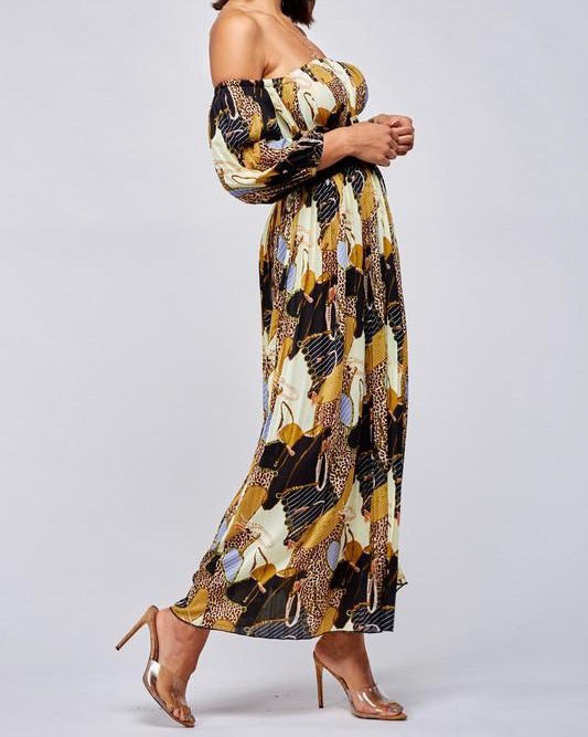 Leopard Mix Maxi Dress