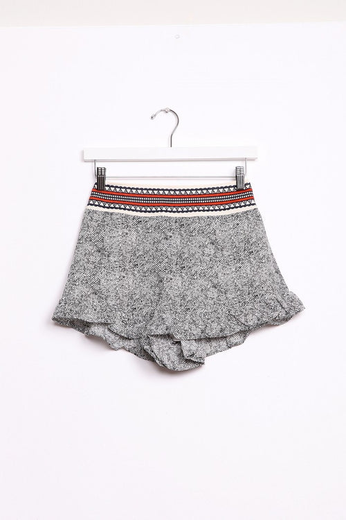 Embroidery Waistband Shorts