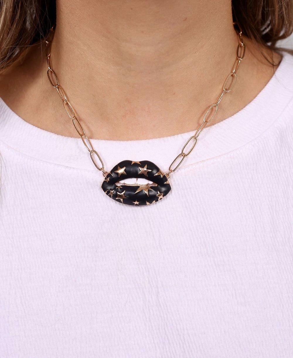 Star Lip Necklace