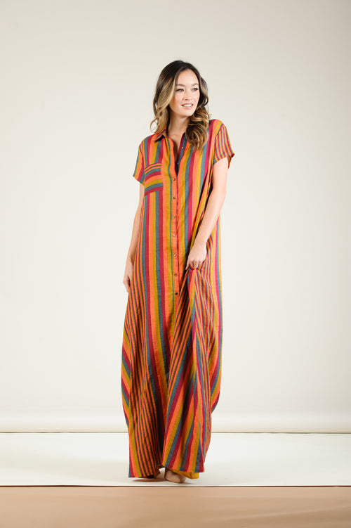 Lucca Button Down Maxi Dress