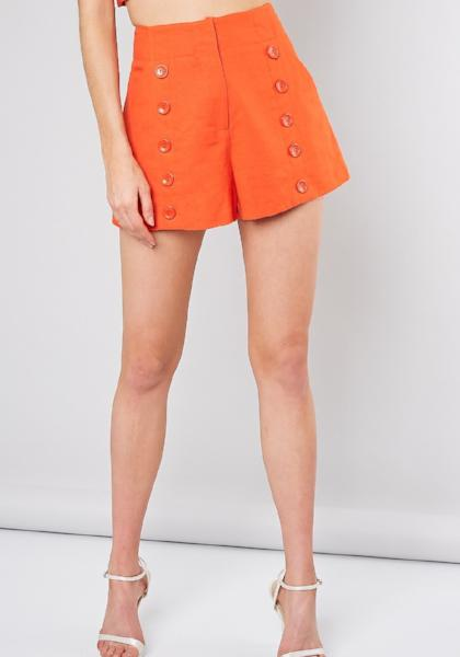 Front Button Shorts