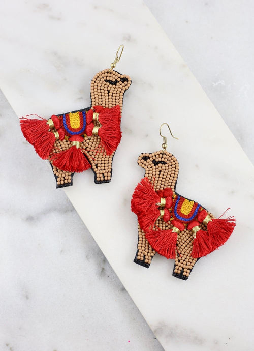 Llama Tassel Earrings