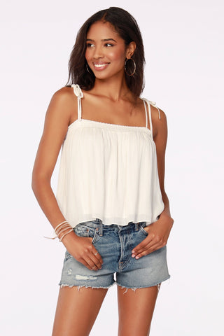 Sequin Frayed Tank