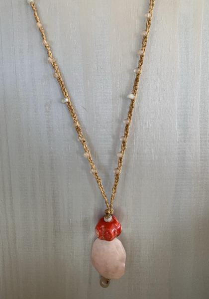 Kaitlynd Bahama Long Natural Stones Necklace