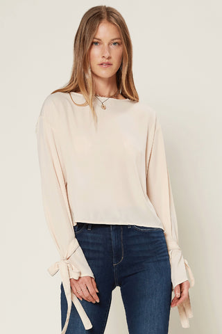 Bubble Sleeve Boho Top