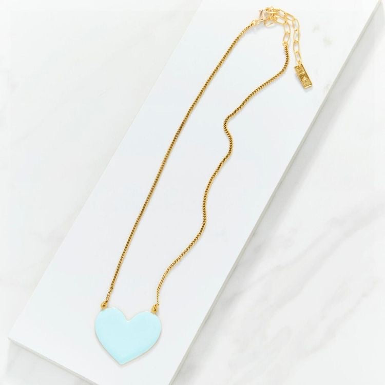 Heart Enamel Necklace