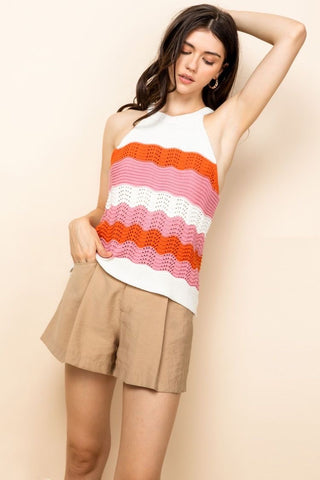 Pink Stripe Andi Shirt
